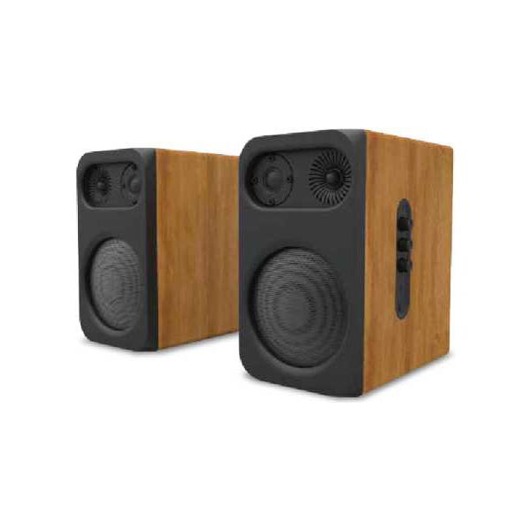 Good Quality Portable Bluetooth Speaker - ODM manufacture  hifi speakers wood passive Home theater system Bookshelf Speaker (BT-120A) –  Eyin
