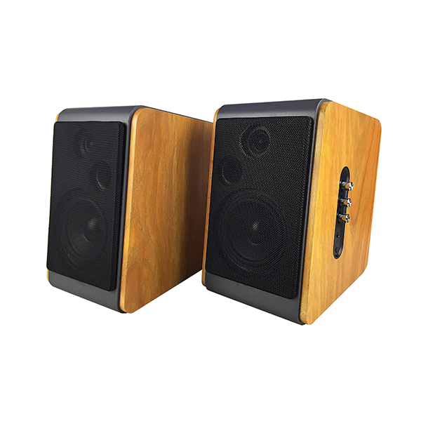 Low price for Portable Speaker With Microphone - Wooden super bass USB bluetooth 2.0CH stereo audio sound Hi-Fi hifi bookshelf speaker(BT-106) –  Eyin