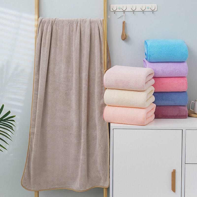 solid color coral velvet towel set