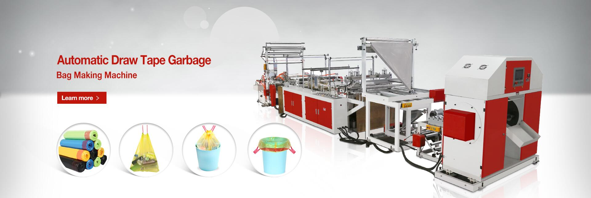 Draw Tape Garbage Bag Making Machine
