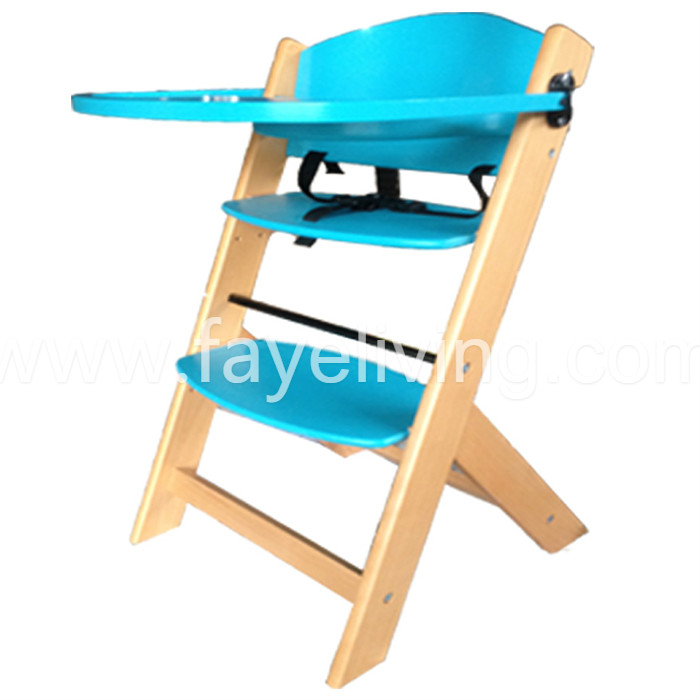 EN14988 Solid Pine Wood Baby Feeding Chair Baby High Chair Featured Image