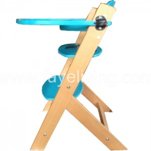 EN14988 Solid Pine Wood Baby Feeding Chair Baby High Chair