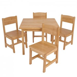 School Furniture Solid Wood Kids Desk And Chair