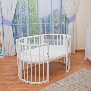 5in1 Oval Baby Cot Multifunctional Round Baby Bed