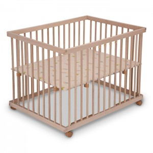 Solid Wood Folding Baby Playpen