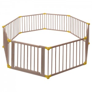 8Panel European Standard Foldable Wooden Baby Playpen