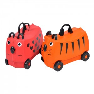 Kids Ride on Luggage Toys Storage Box Suitcase
