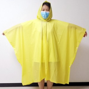 China Wholesale Rainsuits Manufacturers - Embossed PVC material rain poncho with custom printing USD0.7-0.98 – Forever Bright