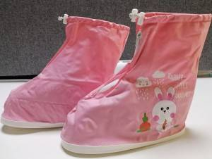 Great value PVC rain shoe cover with customized printing for children