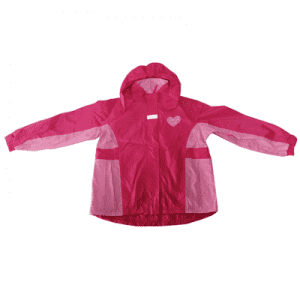 High visibible Pink multi color polyester PU coating rainsuit for kids