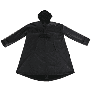 40% Polyester 60% PU waterproof raincoat with customized logo printing