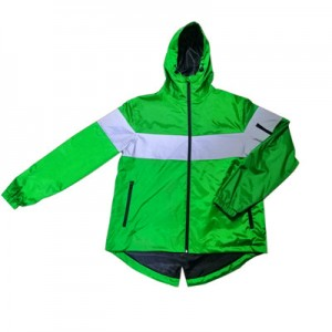 High visiable polyester coated PVC waterproof rain jacket USD10.5-12.2
