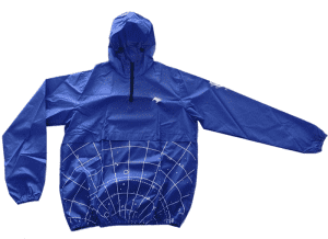 Great value pullover polyester coated PU material lightweight custom printing jacket