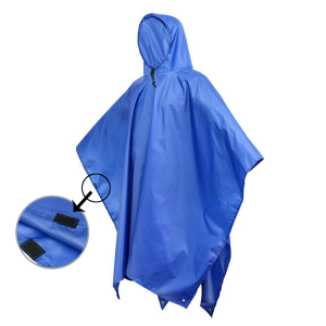Tear-resistance fashionable rain poncho with drawstring hood for sale USD5.5-USD6