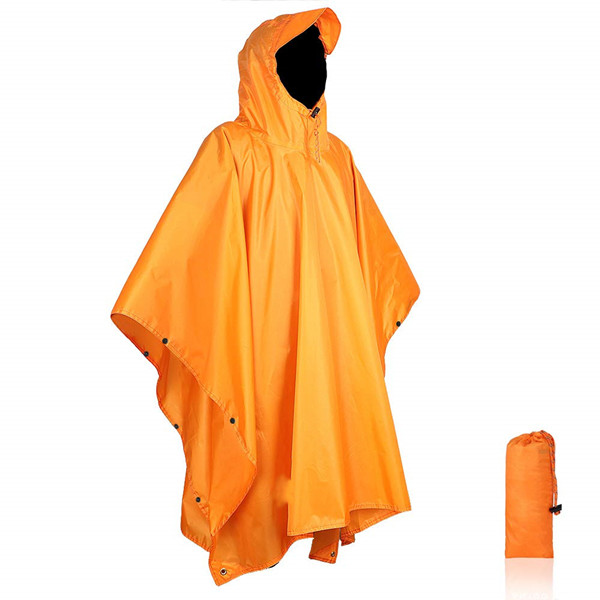 Tear-resistance fashionable rain poncho with drawstring hood for sale USD5.5-USD6 Featured Image