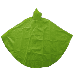 Factory direct sale high visibility curved shape rain poncho with great value