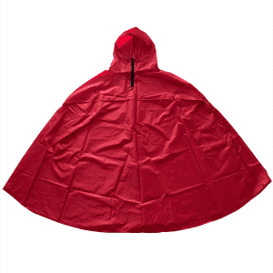 Bright color anti-tear material polyester coated PU rain poncho