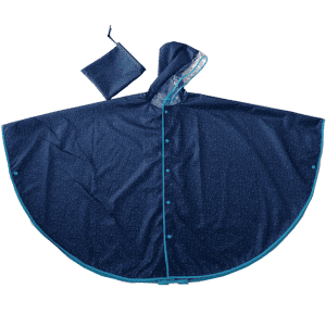 Full printing cute curved shape rain poncho for children
