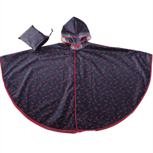 Custom full printing new design rain poncho for children