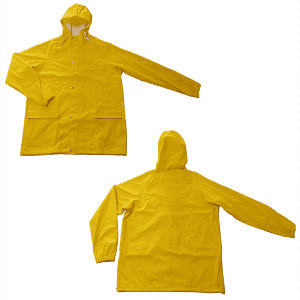 OEM Soft shell fashionable long style PU raincoat with great value