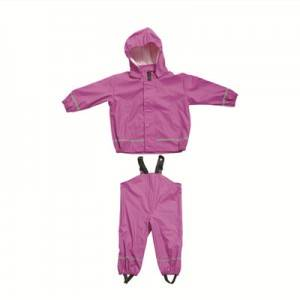 Great value PU kids rain suit according to customer request