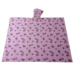 China direct manufacturer low price rain poncho with custom full printing