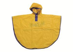 China Wholesale Work Pvc Rainsuit Factory - Curved shape yellow color children rain poncho with purple piping – Forever Bright