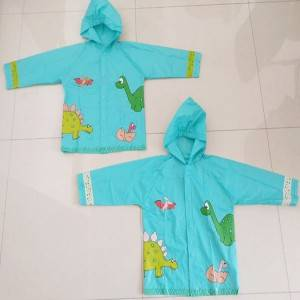 Great value PVC kids raincoat with customized color changing print