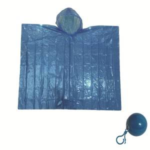 Portable emergency disposable rain poncho ball with great value
