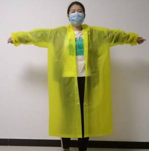 China Wholesale Kids Pu Raincoat Factories - Economic colorful long style plastic reusable raincoat for sale  – Forever Bright