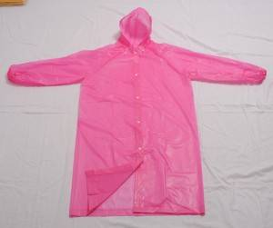 China Wholesale Yellow Rainwear Suppliers - Environmentally friendly material EVA raincoat with drawstring and elastic cuff – Forever Bright