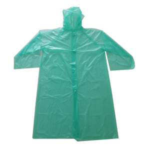 Environmentally-friendly colorful PEVA raincoat with low price