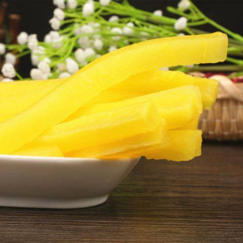 Top Grade 1kg Yellow Pickled Radish Takuan Pickled Radish In Plastic Case