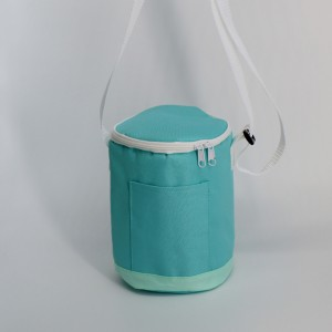 420D polyester round Insulated Picnic Cooler Bag