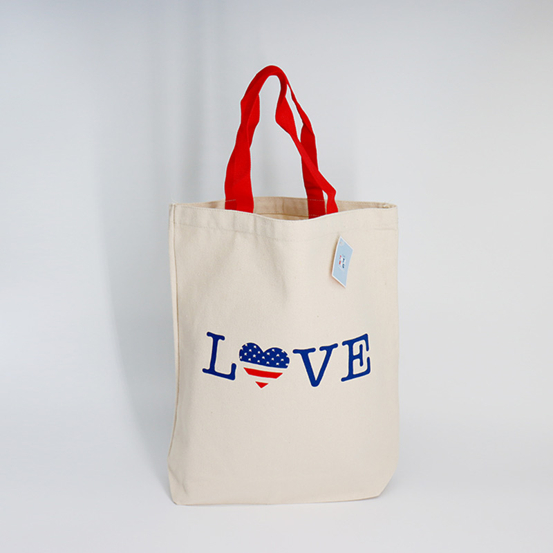 Reusable customized printed logo shopping cotton tote bag with logo  Featured Image