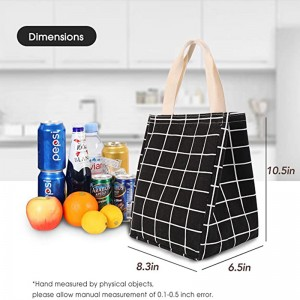 Cotton canvas Thermal Cooler bag Eco-friendly custom printing design