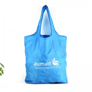 China Cheap price Foldable Shopping Bag Polyester - Custom Logo Reusable Foldable RPET Eco Friendly Shopping Bag – Fei Fei