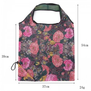 Easy carry small foldable pocket tote ECO Friendly polyester folding shopping reusable bag