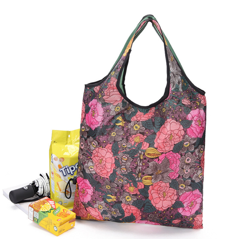 Easy carry small foldable pocket tote ECO Friendly polyester folding shopping reusable bag Featured Image