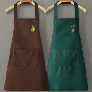 High quality customized logo natural cotton / polyester bulk wholesale aprons