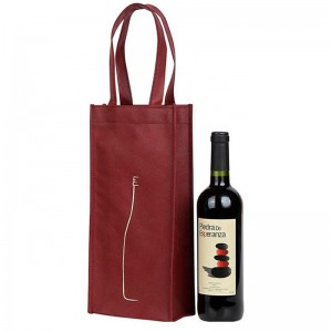 Hot Sale BSCI Customized Red Non Woven 1 / 2 / 4 / 6 Bottle Wine Carrier