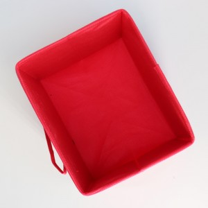 Hot sale cute nonwoven storage box with handle for package