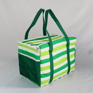 Large size customized printing polyester home meal insulated thermal lunch cooler bag
