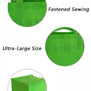 Piping Non-woven Bags ultra-large shopping rip-resist Custom printing