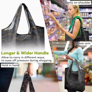 Promotional foldable grocery shopping bag Superior quality reusable grocery Foreign trade foldable shopping bag