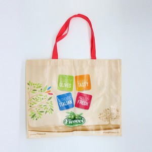 Recycle custom design laminated PP non woven shopping bag