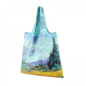 Recycled polyester cheap convenient promotional folding bags