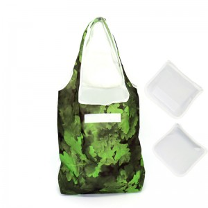 Reusable custom sublimation printing supermarket polyester folding shopping bag