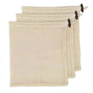Reusable eco-friendly Fruits Vegetables Cotton Mesh Drawstring Net Bag
