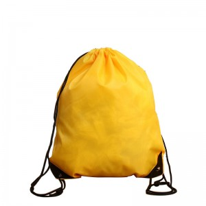 Reusable polyester RPET drawstring bags backpack with custom printed logo